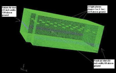 Figure 1: 3-D Image of the auditorium at Columbia College, Chicago