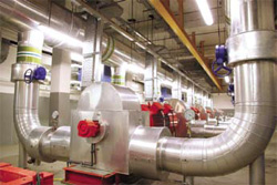 Inside the district cooling plant at The Pearl Qatar