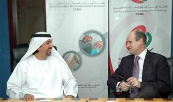 Mohammed Saleh Badri, Acting Director General, ESMA, and Philippe Delpech, President, Carrier, EMEA