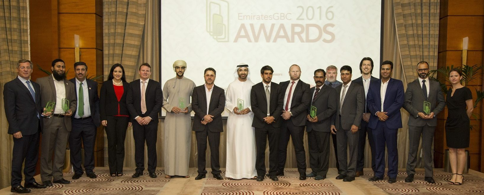 Winners of the fourth Annual EmiratesGBC Awards