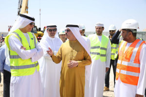 H.E. Saeed Mohammed Al Tayer, MD & CEO of DEWA, at a construction site
