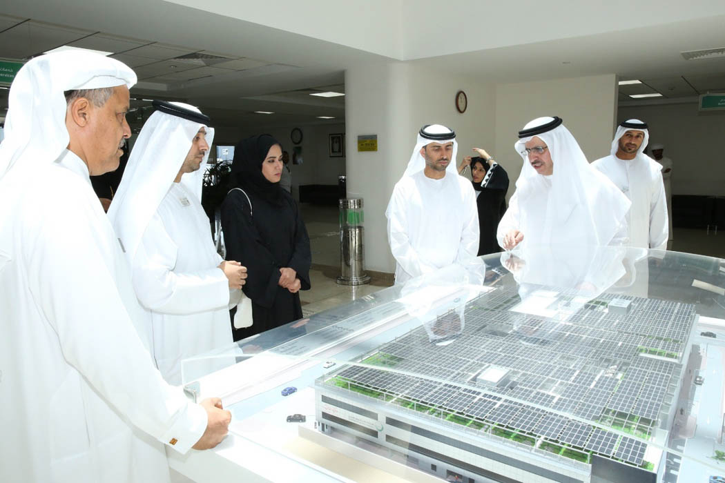 H.E. Saeed Mohammed Al Tayer, MD & CEO of DEWA, with the delegation