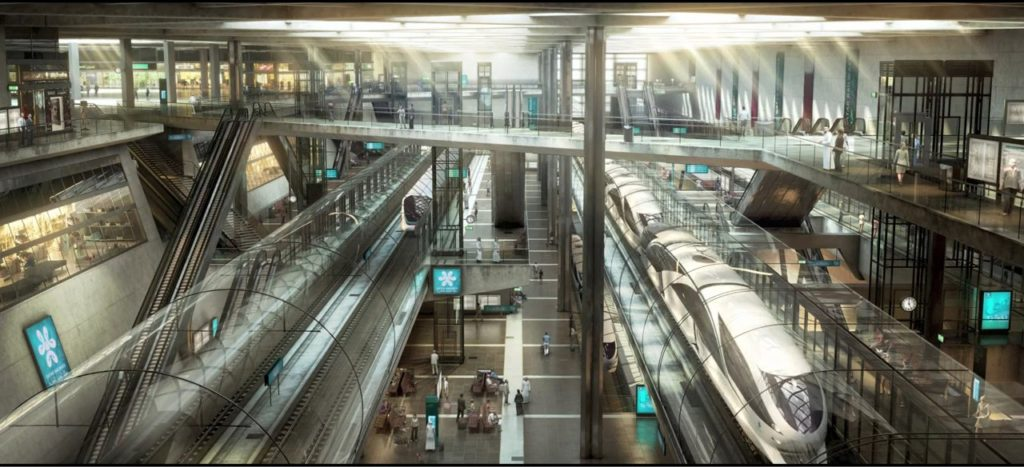 An artist's impression of the Doha Metro Project