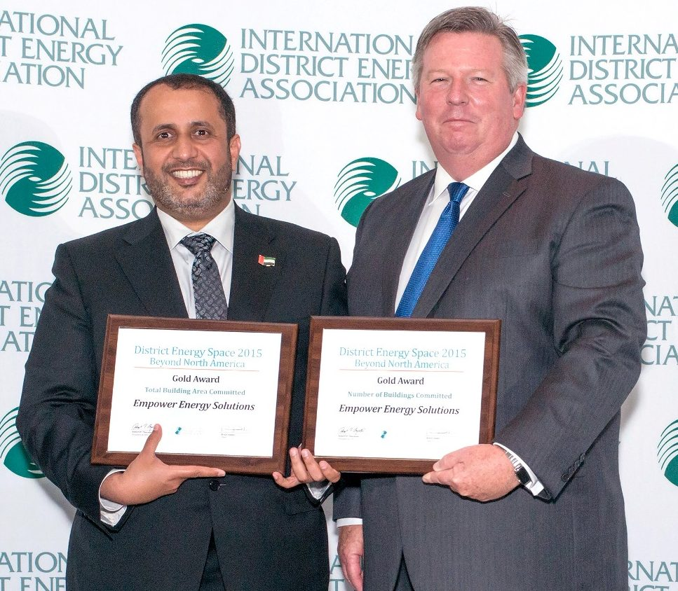 H.E. Ahmad Bin Shafar, CEO of Empower, receiving the awards.