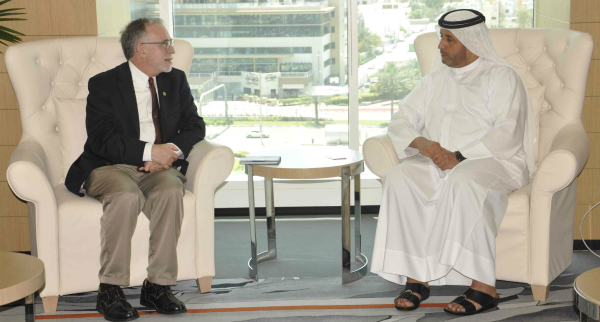 H.E. Ahmad Bin Shafar, CEO of Empower with Timothy Wentz, President-Elect of ASHRAE