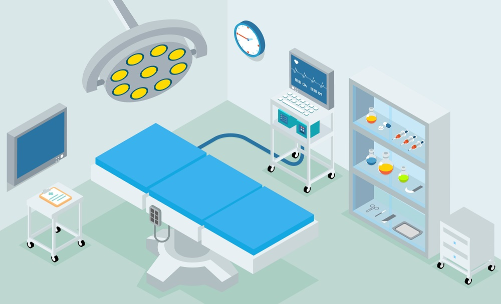 Hospital graphic operation theatre