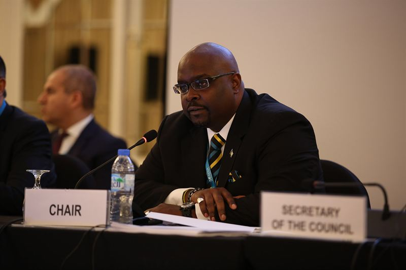 H.E. Kenred Dorsett, Minister of the Environment and Housing of the Bahamas