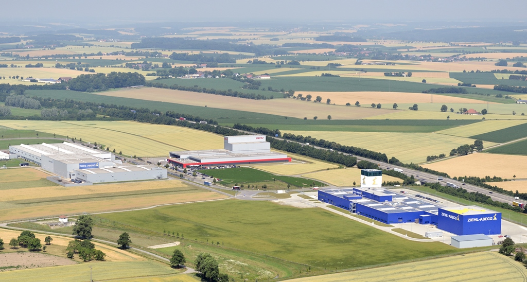 Ziehl-Abegg is constructing a new building for energy-efficient electric drives and fans in the Hohenlohe Business Park