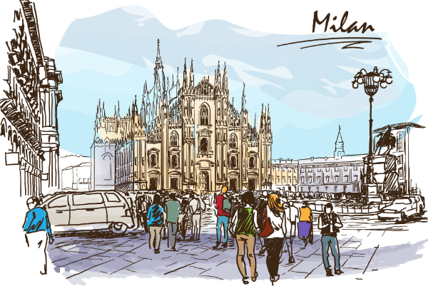 Milan illustration_shutterstock
