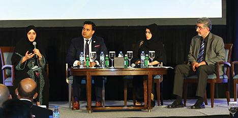 L-R: Anwaar Al Shimmari, Nesar Reza Khan, Nawal Al Hanaei, Roxy Binno