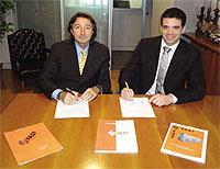 Paolo Gasparini, Managing Director, FAST, with Aslan Al-Barazi,