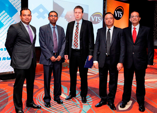 (From left to right) Fazal Rashid, Managing Director, VTS Gulf- FZCO, Murali S, Acting Managing Director, Al-Futtaim Engineering, Cyprian Estemberg, Corporate Product Manager, Dawood Bin Ozair, Senior Managing Director, Electronics, Engineering & Technologies, Al-Futtaim Group and Rajesh Devidas Bhatia, Divisional Manager, AC  Division, Al-Futtaim Engineering, at the event to introduce VTS Clima products.