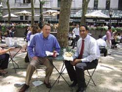 John & me, Bryant Park, NYC