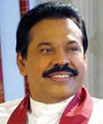 The President of Sri Lanka, Mahinda Rajapaksa