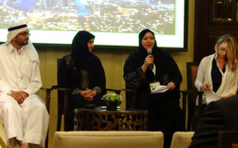 (L-R) Adnan Sharafi, Habiba Al Marashi, Dr Hanan Taleb and Tamara Wither