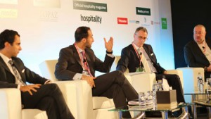 Philippe Harb, Chief Operating Officer, One to One Hotels and Resorts; Rami Moukarzel, Vice President Development and Acquisitions - MENA, Louvre Hotels Group; Laurent Voivenel, Chief Executive Officer, Hospitality Management Holding – HMH; Denis Sorin, President of Hotel Operations, Dur Hospitality