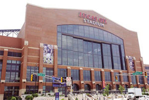 The iconic Lucas Oil Stadium, which receives chilled water from Citizens Thermal Energy