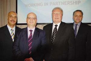 L-R: Alaa Eldin Mahmoud, Gerald Weston, Jim Gale and Sam Taleb