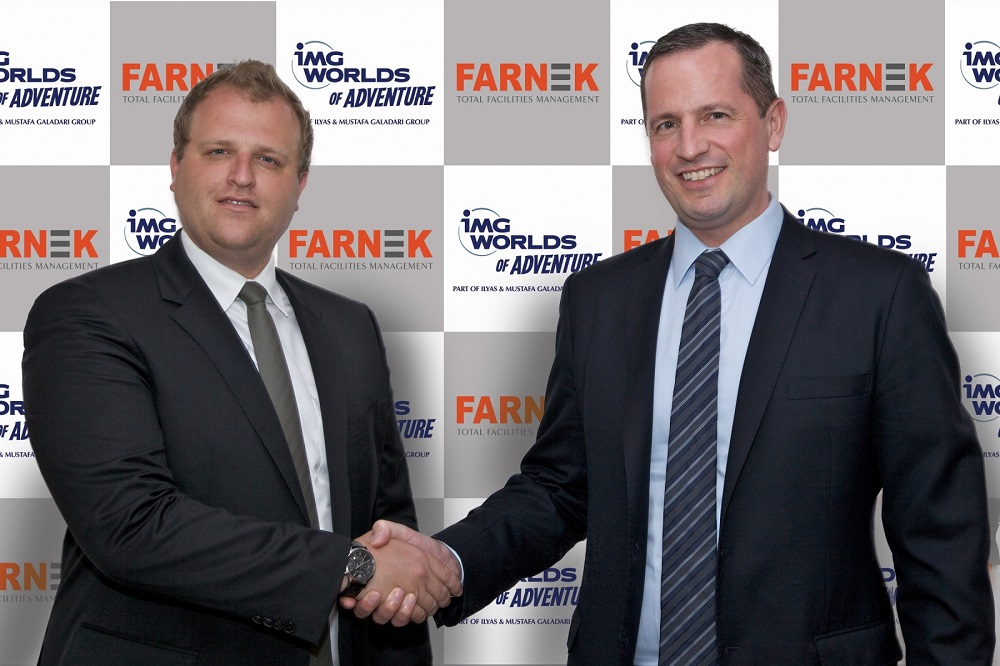 (L-R) Lennard Otto, CEO of IMG Worlds of Adventure, and Markus Oberlin, CEO of Farnek