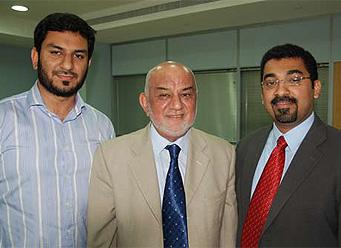 Nabil Awan, Dr Mumraiz K Awan and Ajit Abraham