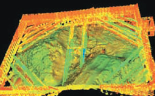 Example of laser scanning to monitor excavation progress