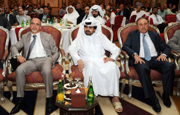 Above, from left to right: Dr Fabrizio Rossi, Managing Director, IRSAP Group; H.E. Sheikh Naif Bin Suhaim Al Thani; Dr Marcus George, CEO / Partner, Consortium Trading and Contracting Co.